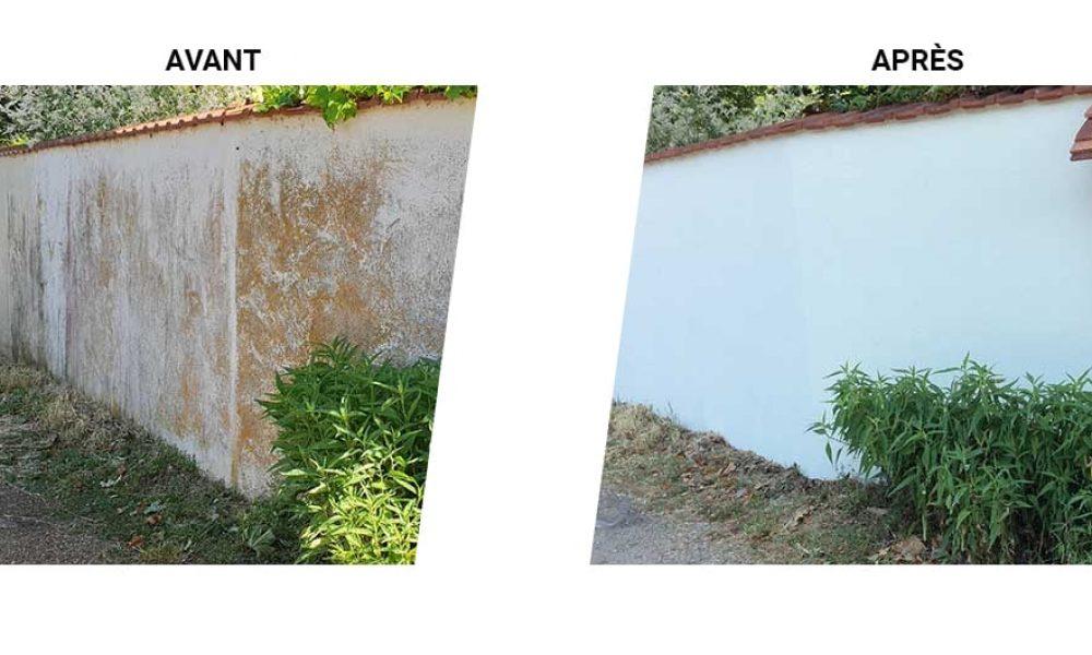 Peinture extérieure mur de clôture